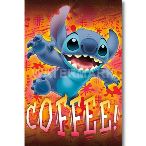 Disney Lilo and Stitch Custom Silk Poster Wall Decor