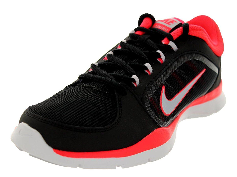 Nike Women's Nike 643083 Flex Trainer 4 Shoes, 643083 Nike 002 Sizes 8-11.5 Blk/Laser Crimso b1e891