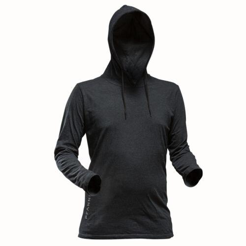 PFANNER Hooded T-Shirt schwarz langarm Shirt Pullover Kapuzen Kapuzenpullover
