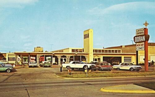 Photo Doran Lincoln-Mercury auto dealership 1961-2 Dallas Texas