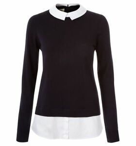 etichette Maglione 89 Nuovo £ Hobbs Rrp Navy Milly con Varie bianco dimensioni r1xqP8rT
