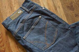 Da-Uomo-Sergio-Tacchini-blue-slim-fit-chiusura-zip-Stretch-Jeans-W32-L35