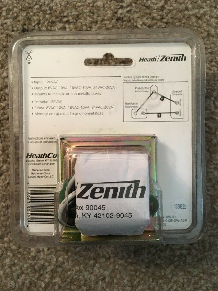 Heath Zenith Doorbell Wiring Diagram