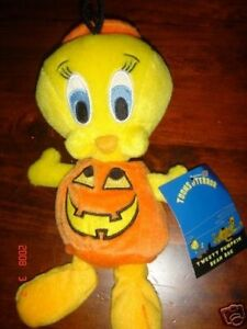 TWEETY-PUMPKIN-WARNER-BROTHERS-BEAN-BAG-TOONS-TERROR