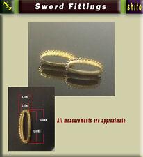 2 x shitodome per il fissaggio sageo --- fuchi Tsuka IAITO, iaidō spada giapponese