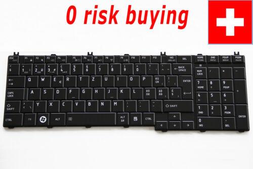 For Toshiba Satellite C670 L650 L650D L670 L670D L755 L775 Keyboard Swiss German