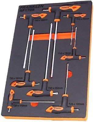 TRX ALLAN clé T Poignée Clé Torx Tournevis Sécurité Star Ensemble 10 Pièces T9-T50
