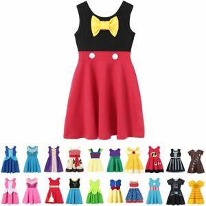 Baby-Girls-Summer-Casual-Clothing-Minnie-Mulan-Wonder-Woman-Snow-White-Rapunzel