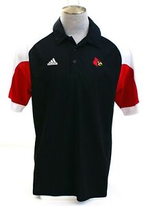 Adidas-ClimaCool-Black-St-Louis-Cardinals-Short-Sleeve-Polo-Shirt-Men-039-s-L-NWT