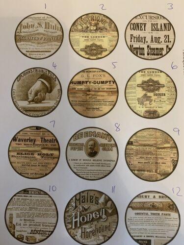 Handmade en Bois Vintage Sépia publicités Poignées de porte Poignée Tirer SHABBY CHIC COMMODE