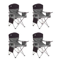 Coleman Oversized Quad Black Chairs + Cooler/cup Holder, 4-pack | 4 X 2000020256