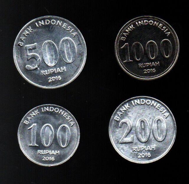 INDONESIA 25 50 100 200 500 1000 RUPIAH 1994-2016 UNC COIN SET OF 6