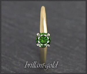 Diamant-Brillant-Ring-mit-0-30-ct-Damen-Solitaer-aus-585-Gelbgold-Weissgold-Neu