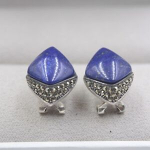 728cfb1c8 Image is loading Solid-925-Sterling-Silver-Stud-Earrings-Prismatic-Lapis-