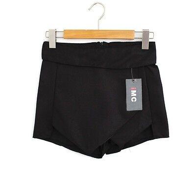 Tiered Mini Wrap Asymmetric Women Short Culottes Skort Invisible Skirt Fashion