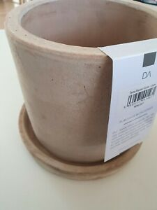 Terracotta-Planter-In-Stone-Colour-Plant-Pot-Flower-Pot-Garden-Pot