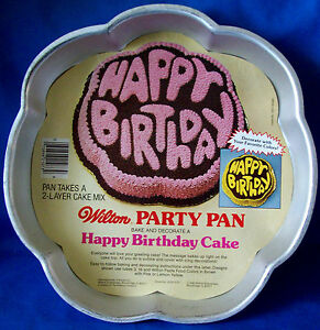 Image Is Loading WILTON HAPPY BIRTHDAY CAKE PAN OR TIN