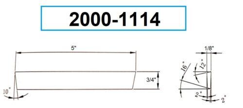 """1//8 X 3//4 X 5/"""" COBALT CUT-OFF BLADE 2000-1114"""