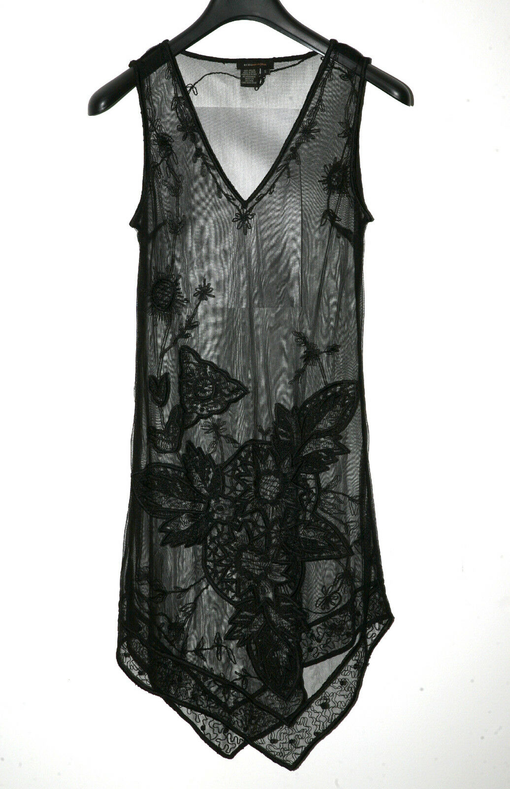 BCBGMAXAZRIA DRESS LACE SHEER  COVER-UP. SZ SMALL..