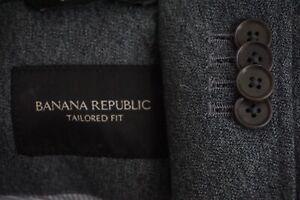 Banana-Republic-Tailored-Fit-Gray-Mottled-Cotton-Recent-Sport-Coat-Jacket-Sz-38S