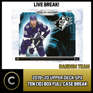 2019-20-UPPER-DECK-SPX-HOCKEY-10-BOX-FULL-CASE-BREAK-H601-RANDOM-TEAMS