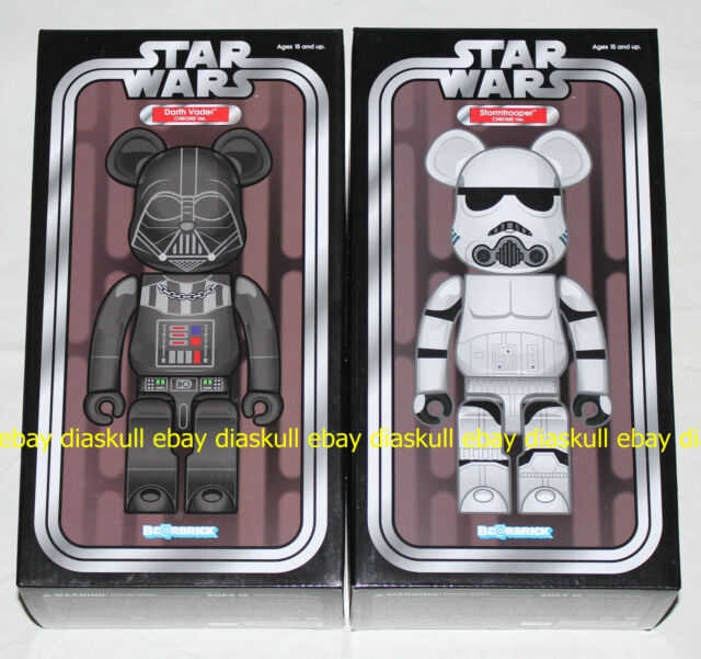 Medicom Star Wars 400/% Darth Vader Holographic clear bearbrick Be@rbrick 1pc