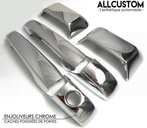 CHROME-DOOR-HANDLE-COVERS-CAPS-MOLDING-for-JEEP-COMPASS-MK49-2011-2014-CRD-SUV