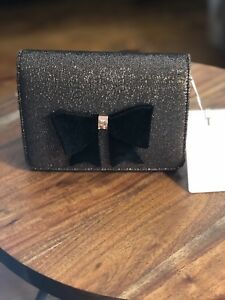 3aa1a0cf567e Image is loading New-Ted-Baker-JEMINNA-Glitter-bow-evening-bag