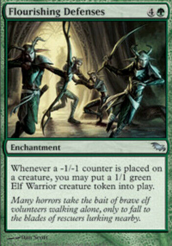 4x Flourishing Defenses x4 Shadowmoor English MTG Magic PLAYSET NM-Mint