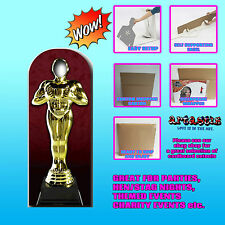 AWARD STATUE STAND IN OSCAR HOLLYWOOD LIFESIZE CARDBOARD CUTOUT STANDEE SC180