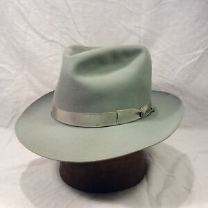 27c4544417c Blue Gray Royal Stetson Playboy Men s Vintage Hat with Blue Gray ...