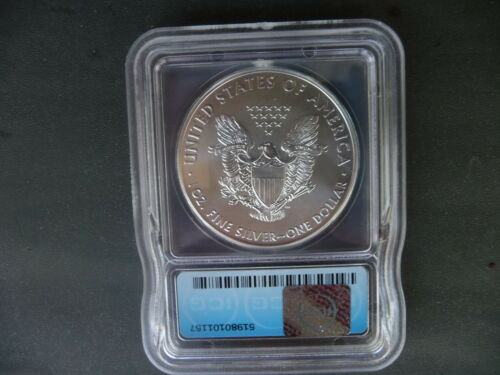 2016 silver American eagle ICG MS 70 Minted in Philadelphia P
