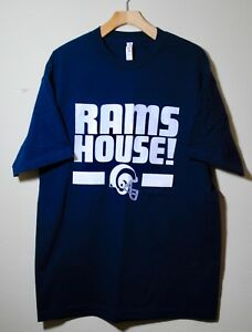 49f44e1c Details about Los Angeles Rams Mens T shirt Rams House Tee