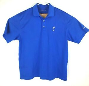 Nike-Golf-Dri-Fit-Mens-Mickey-Mouse-Blue-Short-Sleeve-Polo-Shirt-Size-Large-a22