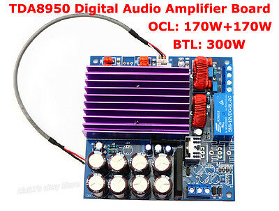 TDA8950 2.1Digital Subwoofer Class D Audio Amplifier Board AMP Module 170W+170W