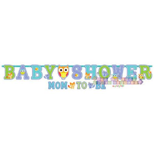 Baby Shower Woodland Bienvenue Jumbo Bannière Set ~ parti Fournitures Décorations Bleu