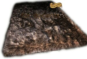 Image Is Loading Fur Accents Timber Wolf Area Rug Black Tip