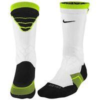 NWoT Nike White Volt & Black Vapor 2.0 Football Socks M Medium 6-8 elite rare!