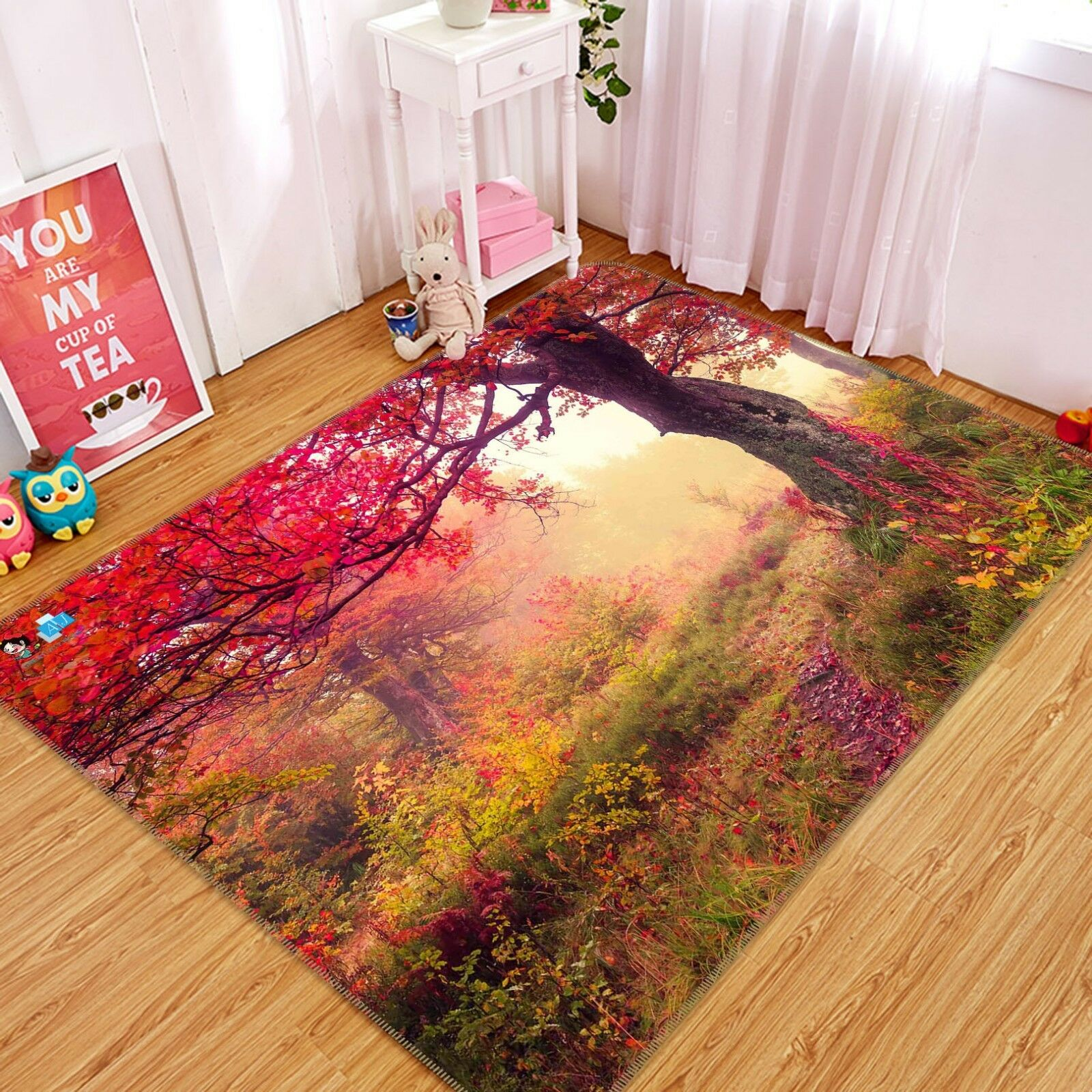 3D 3D 3D Misty Maple Tree 43 Non Slip Rug Mat Room Mat Quality Elegant Photo Carpet UK 991267