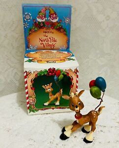 Enesco North Pole Village DANDY Reindeer With Balloons 1986 Zimnicki With Box