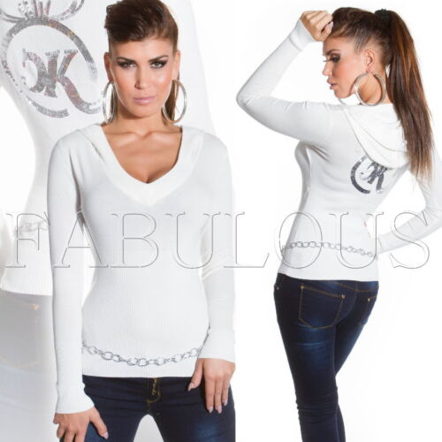 XS S M Ladies Sweater Pullover Jumper Top Hoodie SIZE 6 8 10 US Size 2 4 6