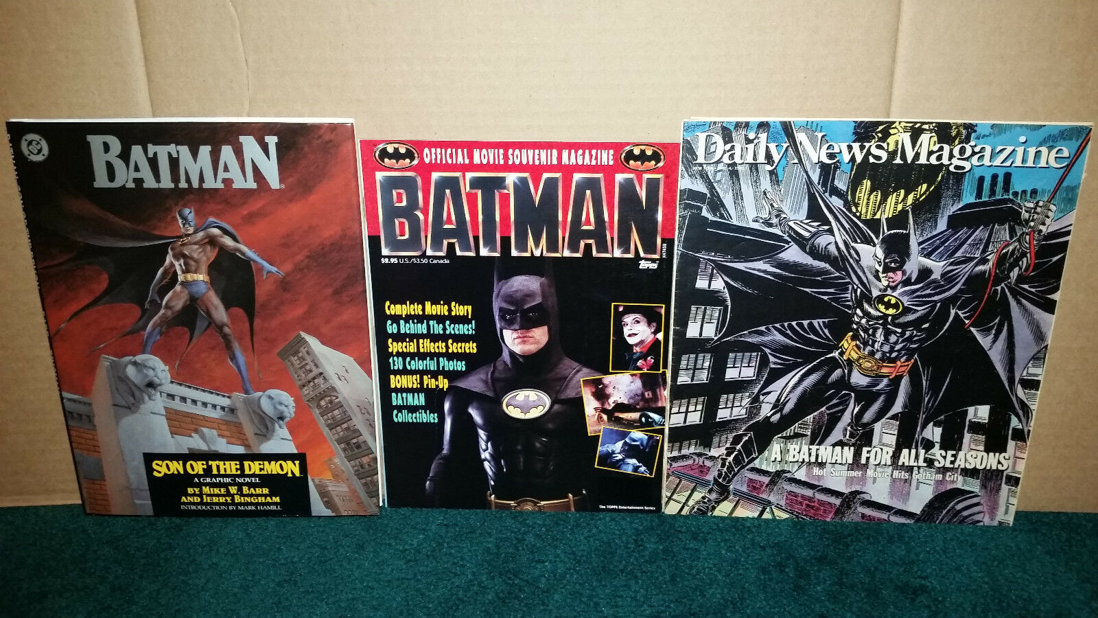 Batman DC Comics Graphic Novel Batman Magazine Daily News 1989 Batman Souvenir