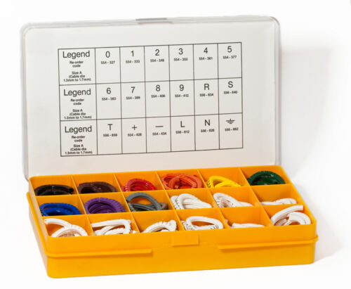 Size D Colour Coded Markers PA2 Partex Cable Marker Kit
