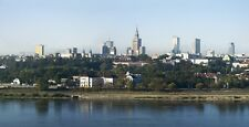 WARSAW POLAND CITYSCAPE POSTER STYLE B 19x36 HI RES