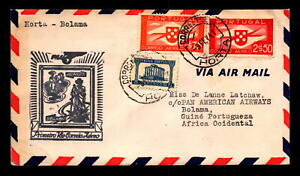 Portugal-1941-First-Flight-Cover-to-Bolama-L8322