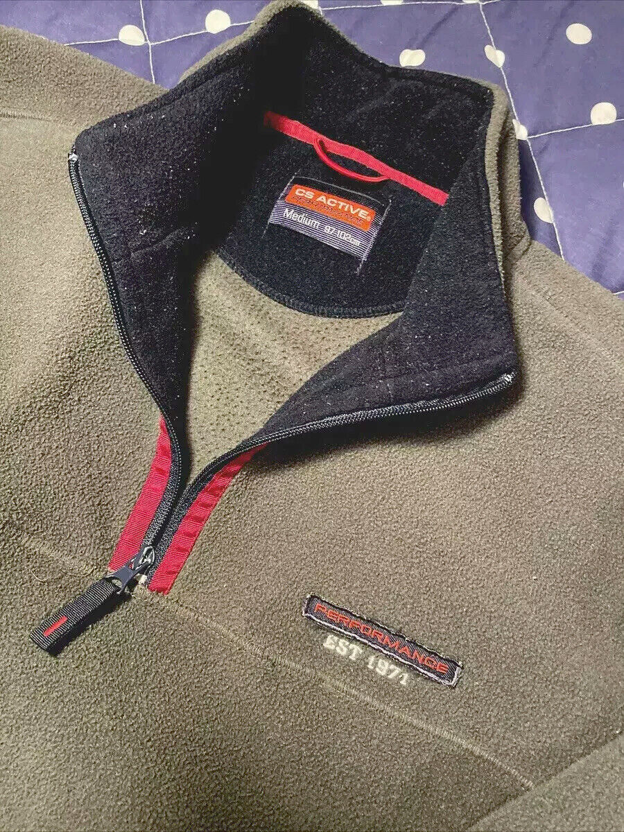 Mens CS Active Lightweight Fleece Size Medium . Hardly Worn A1