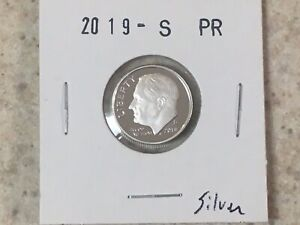 2019 S Roosevelt  **99.9/% SILVER PROOF**  Dime **FREE SHIPPING**