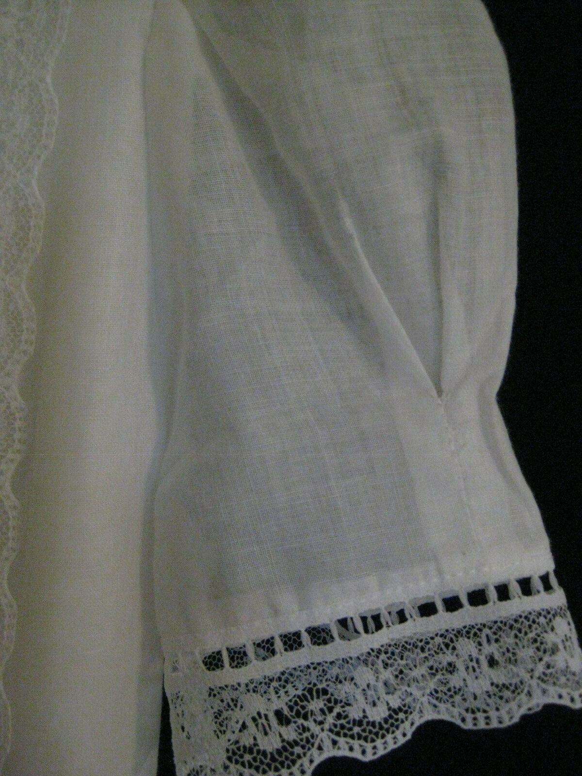 Gunne Sax White Dress Girls Size 12 Pre-Owned - image 5
