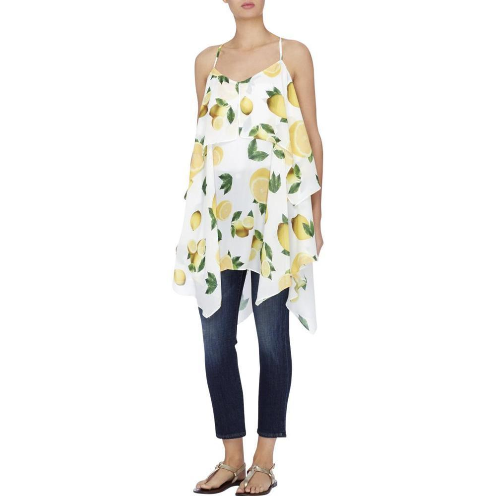 CATHERINE CATHERINE MALANDRINO damen Lemon-Print Tierot Tunic DressL
