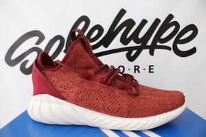 4987f68e ADIDAS TUBULAR DOOM SOCK PRIMEKNIT PK MYSTERY RED WHITE BY3560 SZ ...
